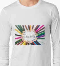 Colouring pencils in circle arrangement with message Creativity T-Shirt