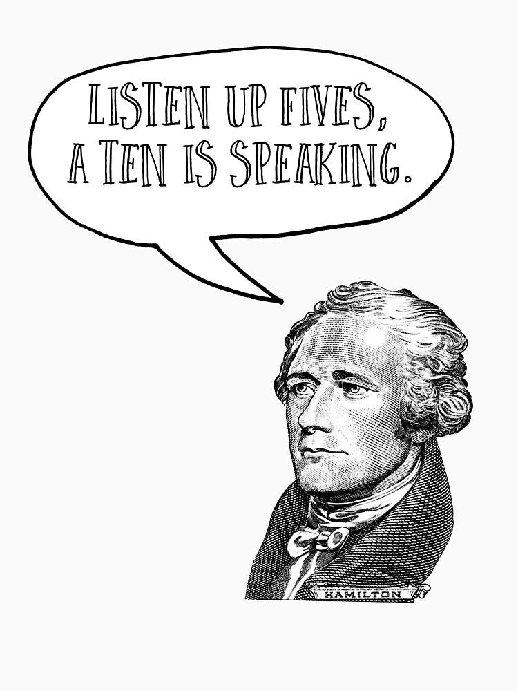 Alexander Hamilton escuche los Fives de crashboomlove