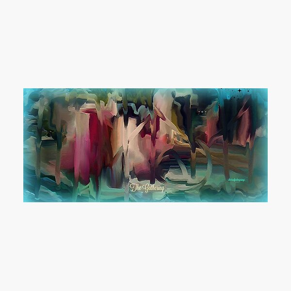 The Gathering - Abstract by Sherri Of Palm Springs Photographic Print