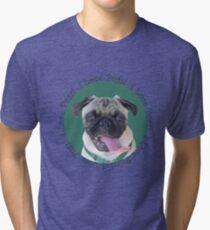 Cute I Love Pugs! T-Shirt or Hoodie Tri-blend T-Shirt