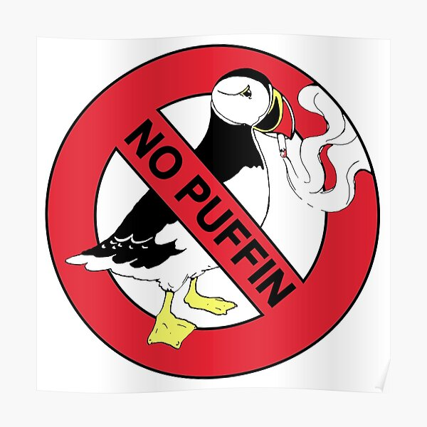 No Puffin Poster
