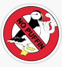 No Puffin Sticker