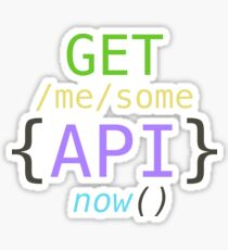 GET me some apis now Sticker