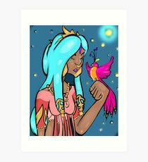 Elven Bird Art Print