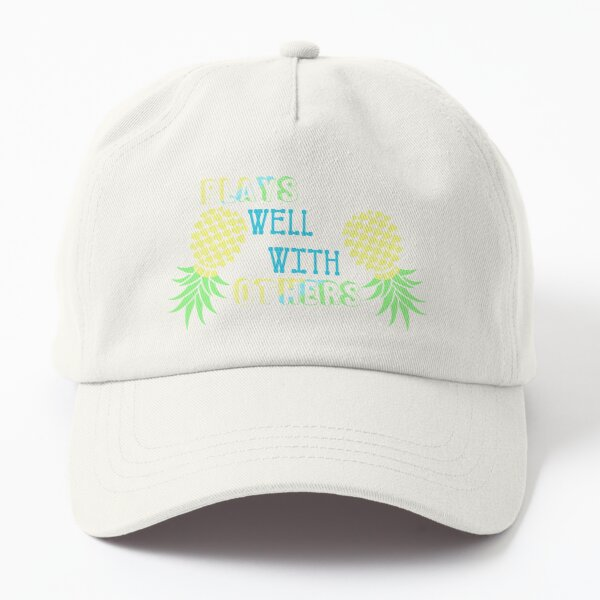 Plays Well With Others Upside Down Pineapple Swingers Dad Hat