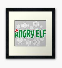 Angry Elf-Christmas-holiday Framed Print