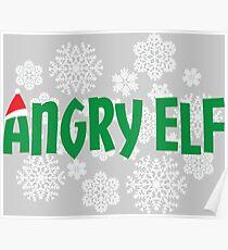 Angry Elf-Christmas-holiday Poster