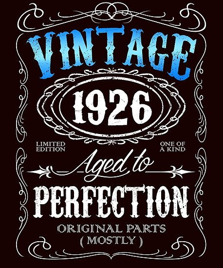 Vintage 1926 Aged To Perfection 90th Birthday Gift For Men By Artyrepublic