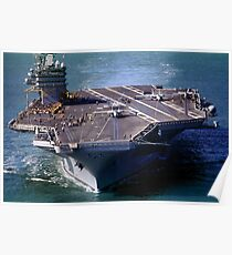 Flight Ops on the USS Carl Vinson, CVN-70 Poster