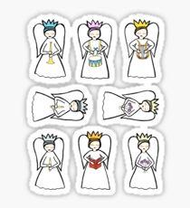 8 angels Sticker