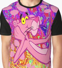 Psychedelic Pink Panther  Graphic T-Shirt