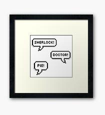 Sherlock Doctor Pie Framed Print