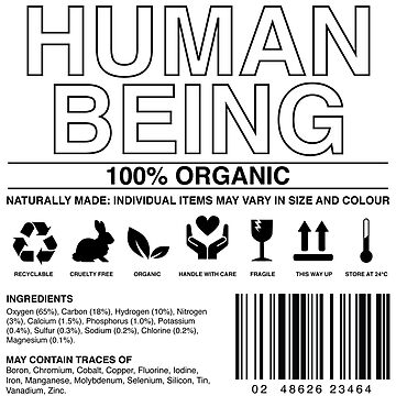 Human Being Care Label by geekibiz