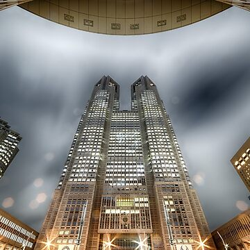 Tokyo Metropolitan Government Building at Night by RodKashubin