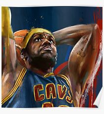 Lebron James Painting Poster