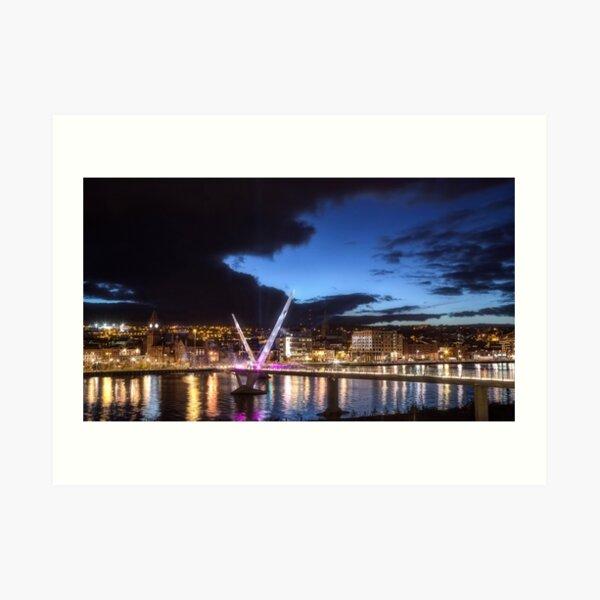 Derry - Peace Bridge Art Print