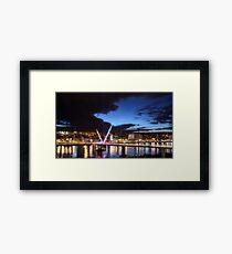 Derry - Peace Bridge Framed Print