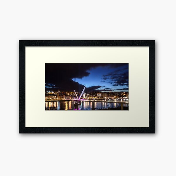 Derry - Peace Bridge Framed Art Print