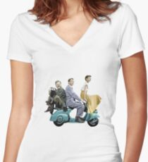 Audrey Hepburn: Roman Holiday Women's Fitted V-Neck T-Shirt