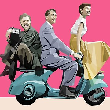 Audrey Hepburn: Roman Holiday by perfectpolygons