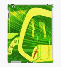 Green Subway Background iPad Case/Skin