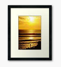 Sunset and a Surfer Framed Print