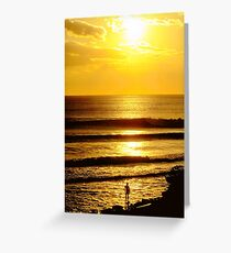 Sunset and a Surfer Greeting Card