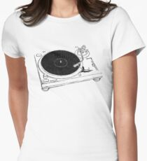 Put Your Record On Women's Fitted T-Shirt