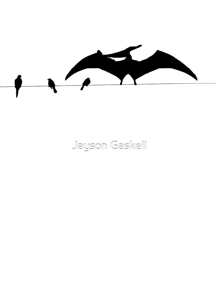Bird on a wire white by Jayson Gaskell