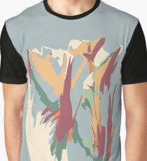 Abstract Artistic Colourful Summer Tulip Graphic T-Shirt