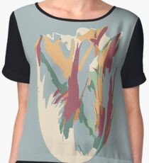 Abstract Artistic Colourful Summer Tulip Chiffon Top