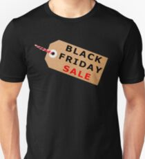 Black Friday Sale Tag Label With String Unisex T-Shirt