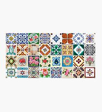 Colorful Decorative Tile Mural Pattern Photographic Print