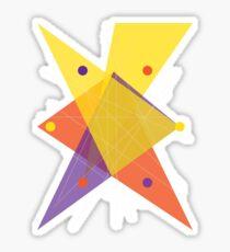 Abstract Hexagon Sticker