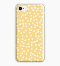 Cute Yellow and White Polka Dots iPhone Case/Skin