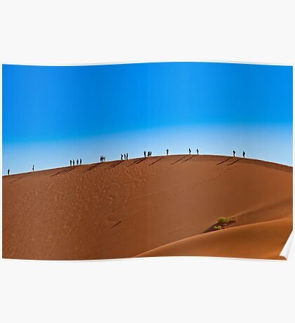 On a giant sand dune Poster