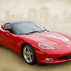 Red Corvette by Keith Hawley