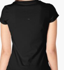 Plain Black - Solid Black - T-shirt & Clothing Women's Fitted Scoop T-Shirt