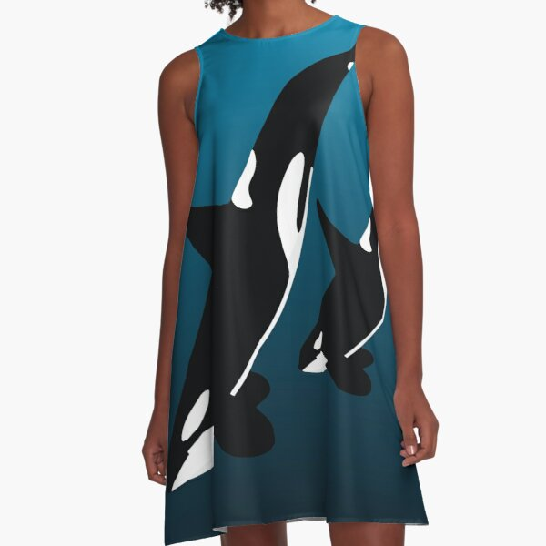 MOTHER AND CHILD BLACK - ORCA A-Line Dress