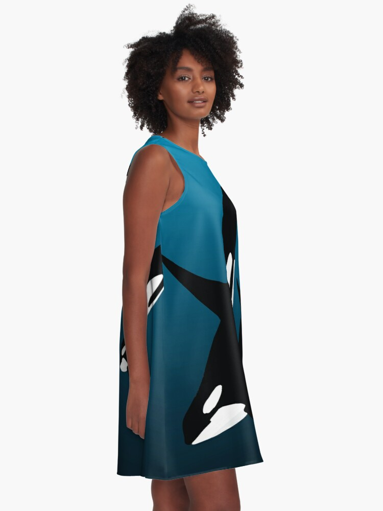 Alternate view of MOTHER AND CHILD BLACK - ORCA A-Line Dress