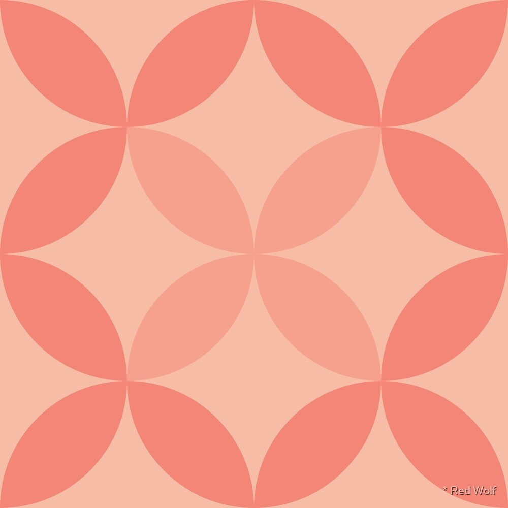 Geometric Pattern: Circle Nested: Salmon by * Red Wolf