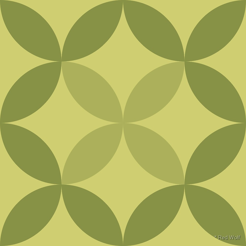 Geometric Pattern: Circle Nested: Olive by * Red Wolf