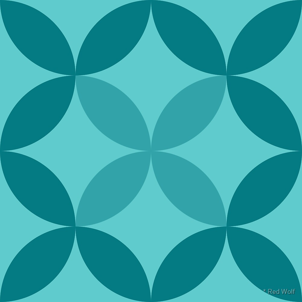Geometric Pattern: Circle Nested: Ocean by * Red Wolf