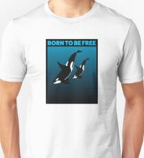 MOTHER AND CHILD BLACK - ORCA Unisex T-Shirt