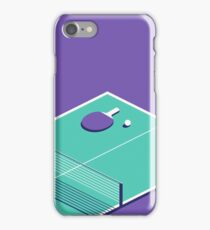 Table Tennis Isometric (Purple Green) iPhone Case/Skin