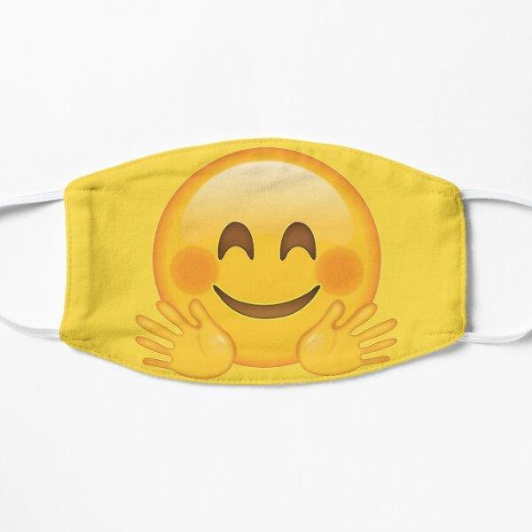 Smiley raises hands emoji Flat Mask