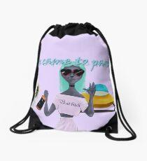 Party Aliens Drawstring Bag