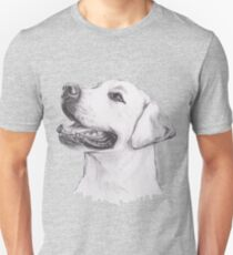 Labrador Retriever Dog Portrait Drawing Unisex T-Shirt