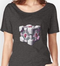 Companion cube has a heart Women's Relaxed Fit T-Shirt