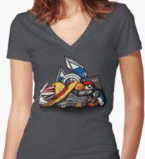 Anime Shonen & Monsters Women's Fitted V-Neck T-Shirt